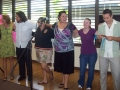 We honor the Keiki Ministry teachers by singing a song to them.