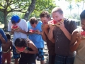 It's a watermelon-eating contest!