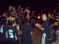 Dressed for Capture the Flag, we sing to praise God.