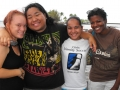 Cristyal, our newest Christian, and her pals are glad that another is about to get baptized.